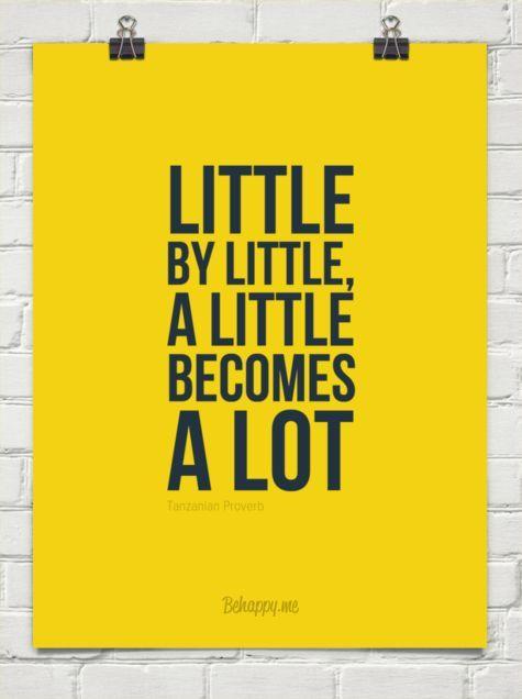 Minimalist Little By Little A Little Becomes A Lot Minimalist
