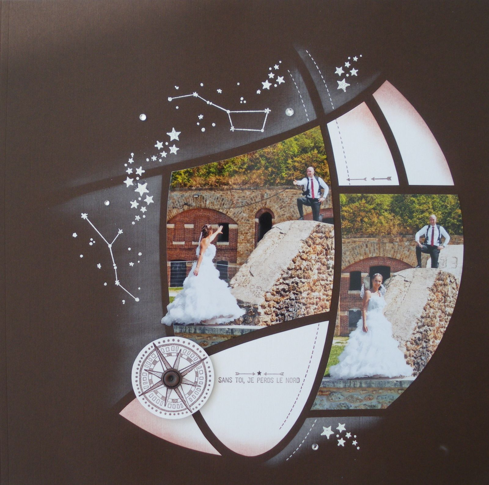 Scrapbooking Layout Idee Hochzeit LoveLaughCreate