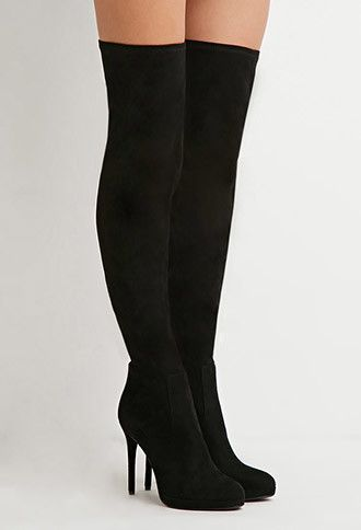 Faux Suede Over-the-Knee Boots - Womens shoes and boots | shop ...