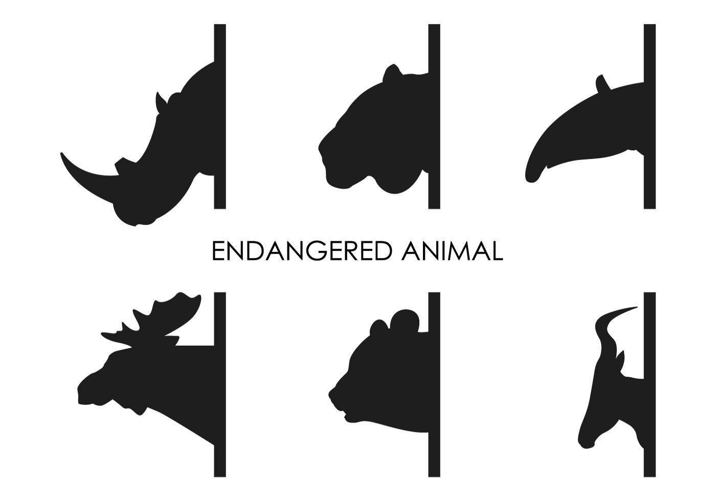 Vector Endangered Animals Endangered Animals Wild Animals Vector Animal Silhouette