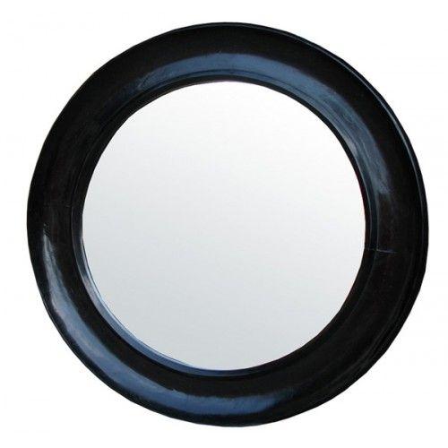Noir Furniture Small Sutton Mirror Hand Rubbed Black