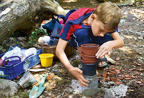 Hervorragend Experiment für Kinder: Mini-Kläranlage | Experimente kinder  QC29