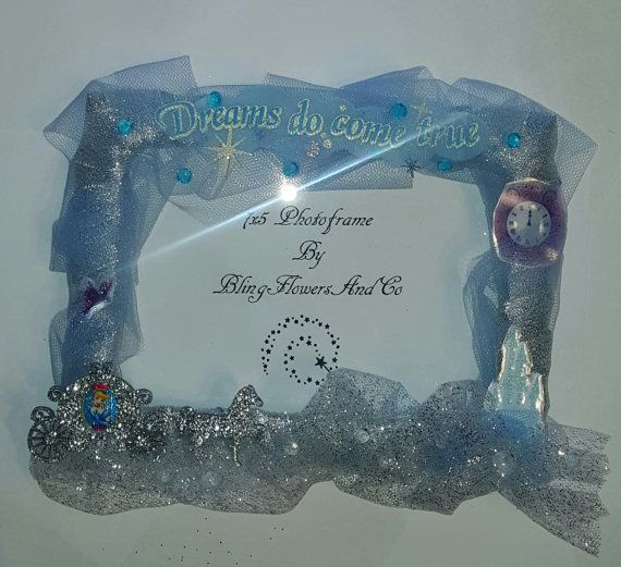 Cinderella Picture Photo Frame By Blingflowersandco On Etsy