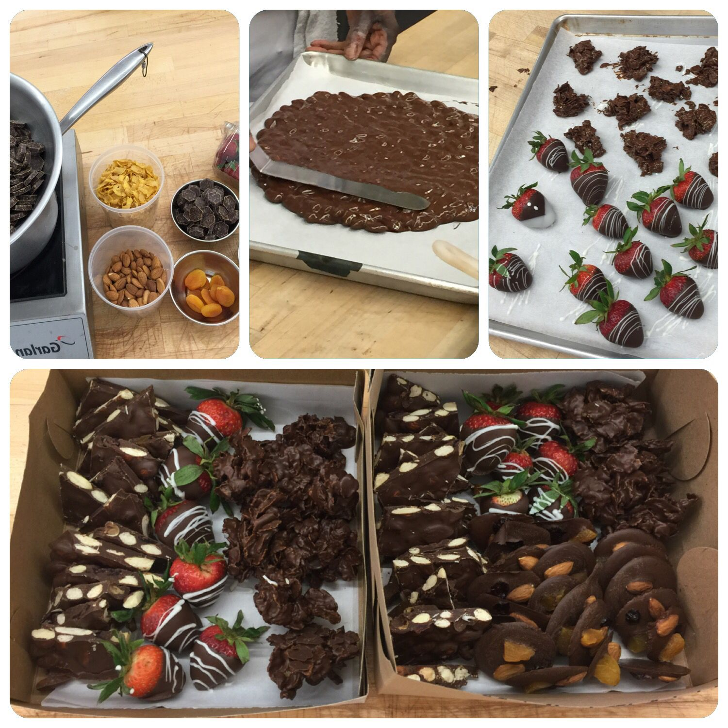 Tempering chocolate class at George Brown College (Baking