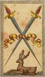 Two Of Swords The Minchiate Tarot  Peace Contradictory Characteristics Brought Together As A Means Of Resolving A Conflict