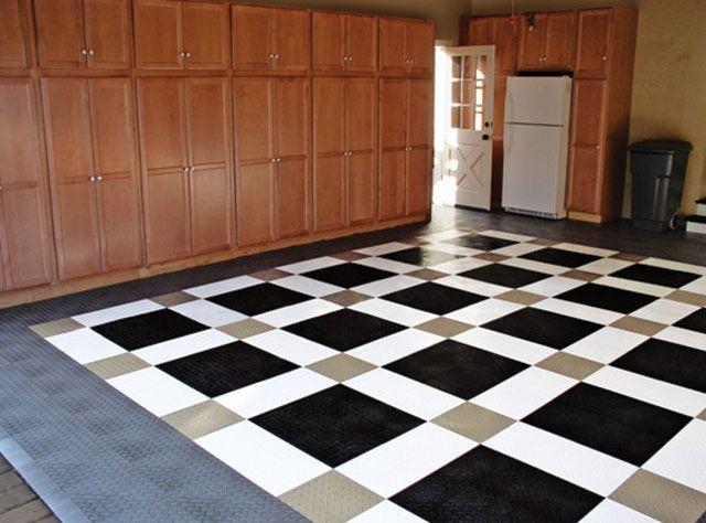 Residential Flooring Applications Racedeck Garage Floor Tiles Garage Floor Floor Design