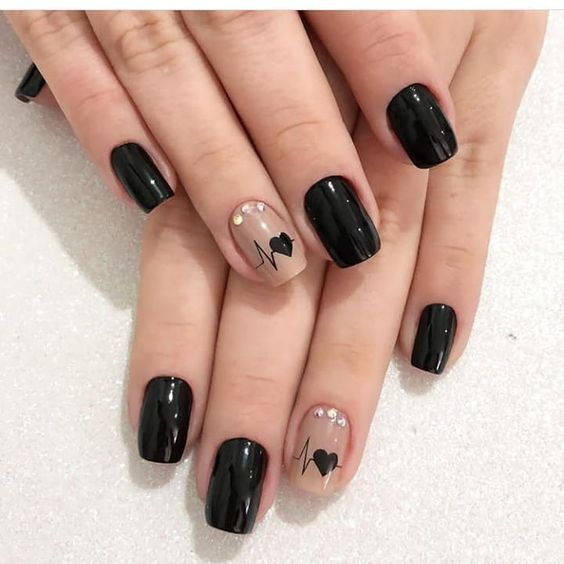 60+ Cool Black Nail Designs to Try Now - Page 38 of 62 - SeShell Blog