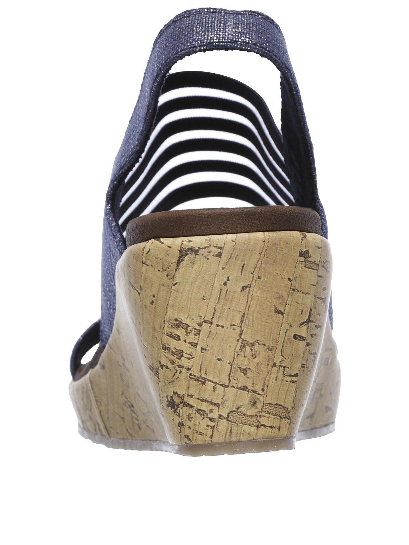 Skechers Skechers Beverlee Smitten Kitten Wedge Sandal Wedge Sandals Skechers Comfortable Sandals