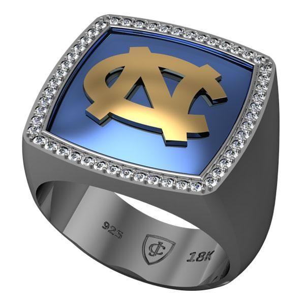 Reeds Jewelers - UNC Blue Enamel and Diamond Signet Ring $1,799