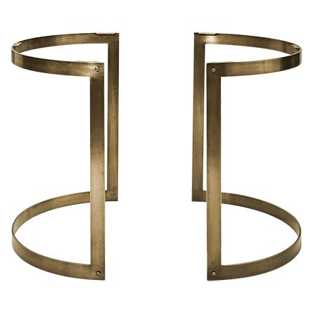 Our Two Piece Round Aged Brass Wells Base Balances Functionality And Design With A Clean And Simple Styl Dining Table Bases Glass Dining Room Table Table Base
