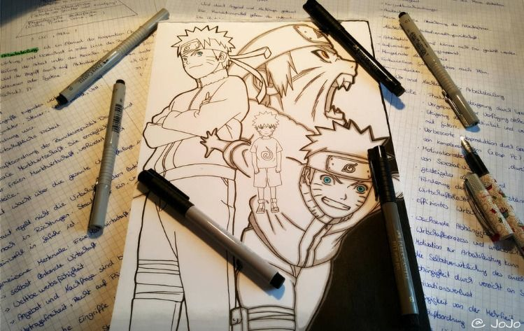 The evoultion of Naruto Uzumaki ナルト a great ninja frm Konoha . Annime and Manga . I just try to understand how pinterest works ... dont know what I am doing ^^ .   #anime #manga #naruto #drawing #art #sketch #school #freetime #ナルト