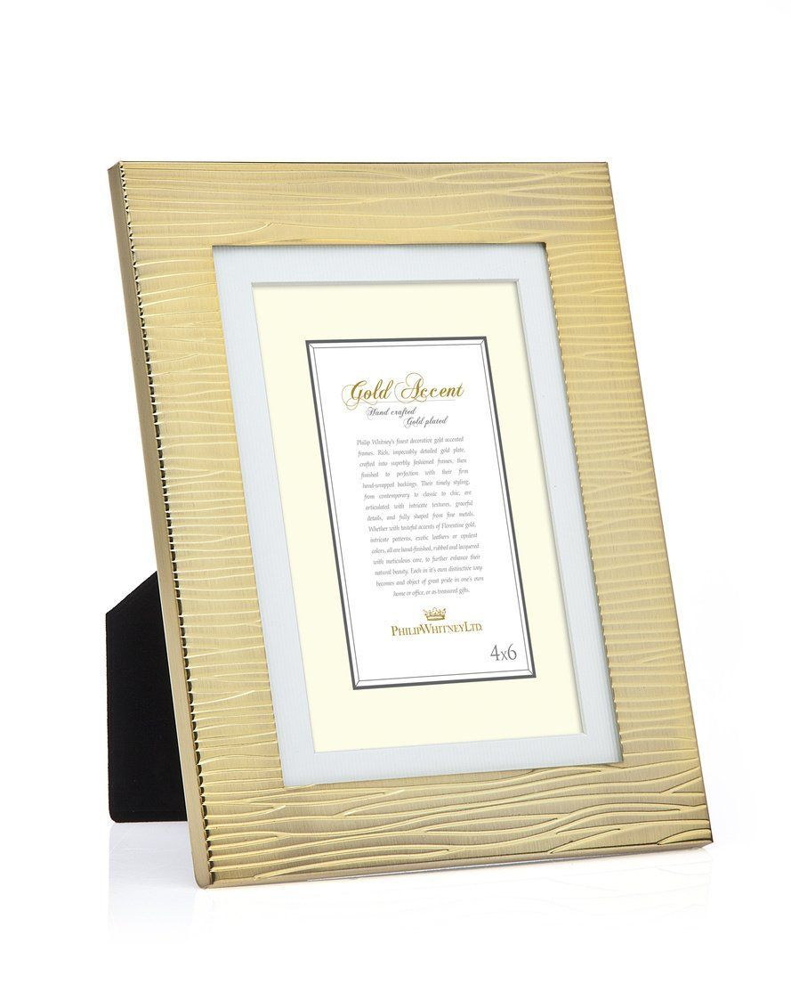 4x6 Wood Grain Brushed Gold Photo Frame | Gold photo frames, Wood ...