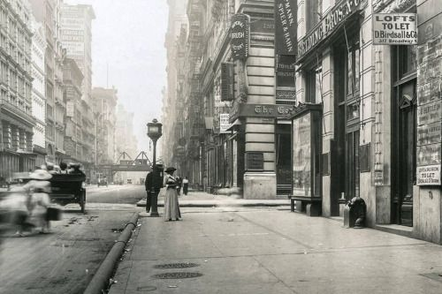 onceuponatown:  New York. Broadway, Between Spring and Broome Streets, July 14, 1912.