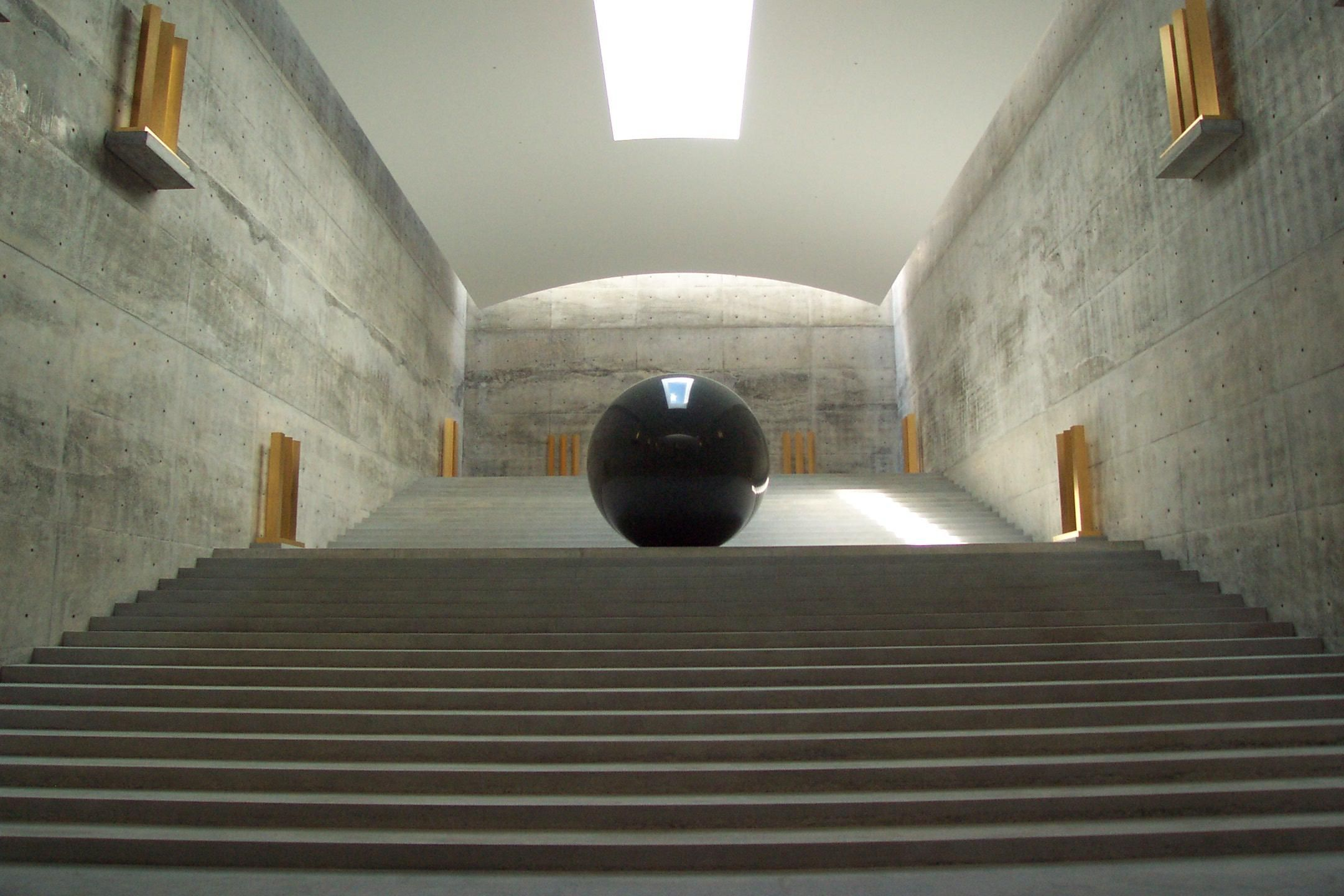 Ando tadao rokko house pinterest - Large Room With Ball Tadao Ando