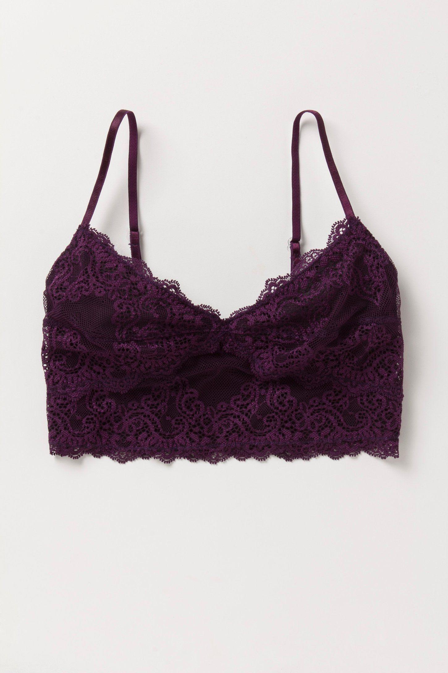 36cdcd17e371e1 cute AND comfortable lacy bits Purple Bralette