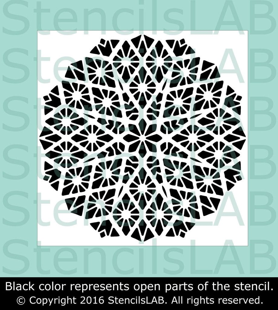 Mandala wall stencil geometric stencil for diy reusable mandala wall stencil geometric stencil for diy reusable stencil amipublicfo Images