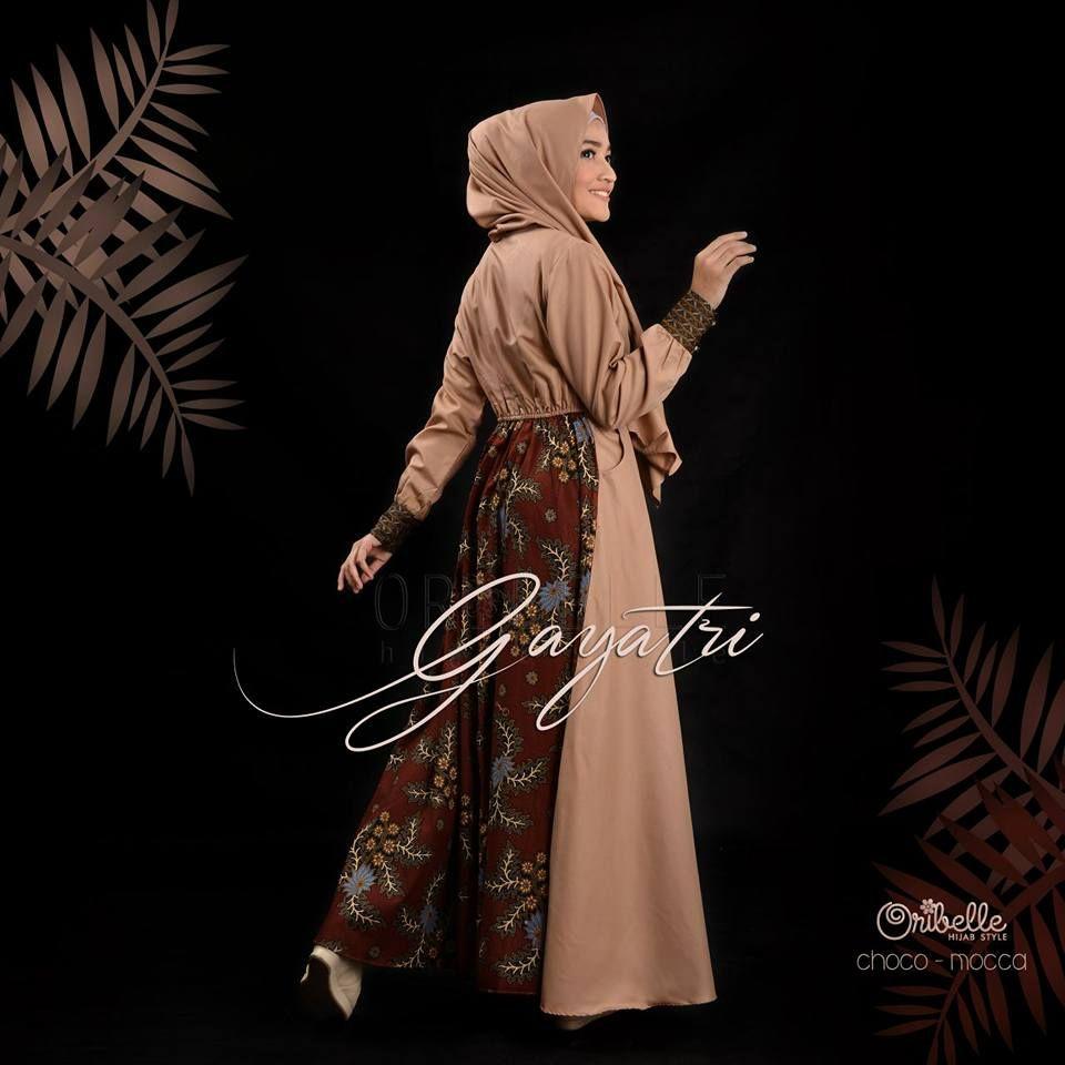 Model Gamis Batik Gayatri di 9  Muslim, Baju muslim, Produk