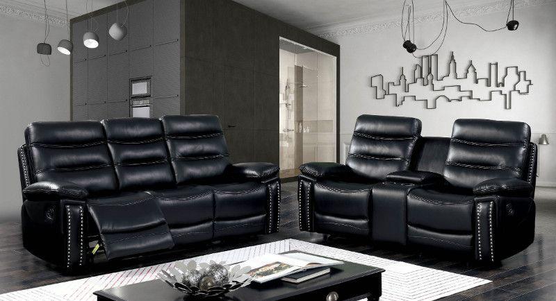 Terrific Cm6560Bk 2 Pc Cavan Black Breathable Leatherette Sofa And Gamerscity Chair Design For Home Gamerscityorg