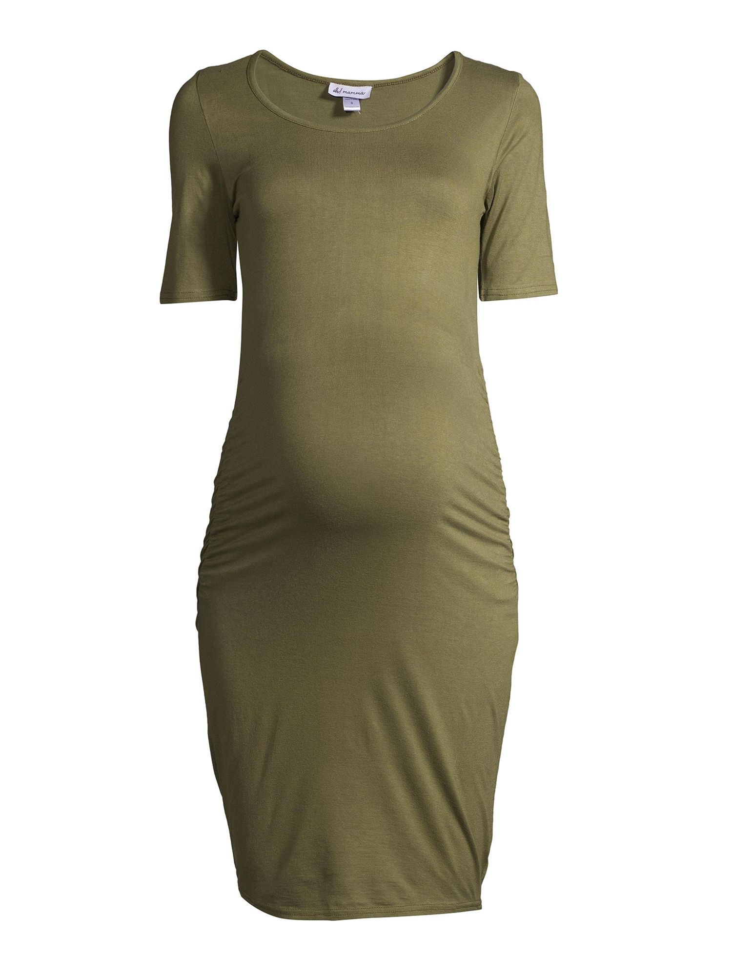 Maternity Oh Mamma Short Sleeve Scoop Neck Knit Dress Available In Plus Sizes Ad Short Paid Sleeve Maternity Short Dresses Dresses Street Style [ 2000 x 1500 Pixel ]