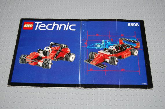 Vintage Lego Instruction Book For Set 8808 Technic By Thriftcave