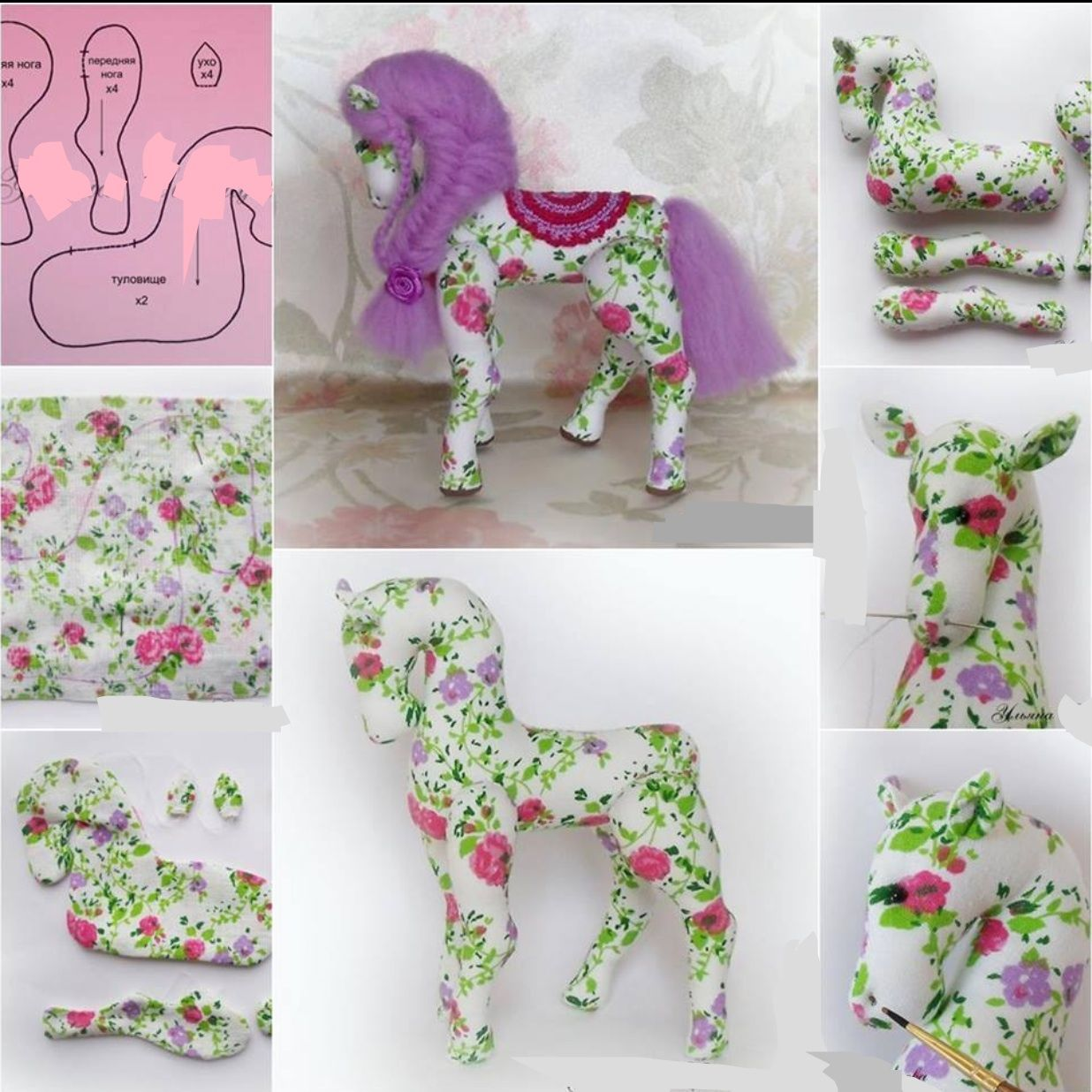 Tuto y patron caballo de tela | caballos | Pinterest | Caballos ...