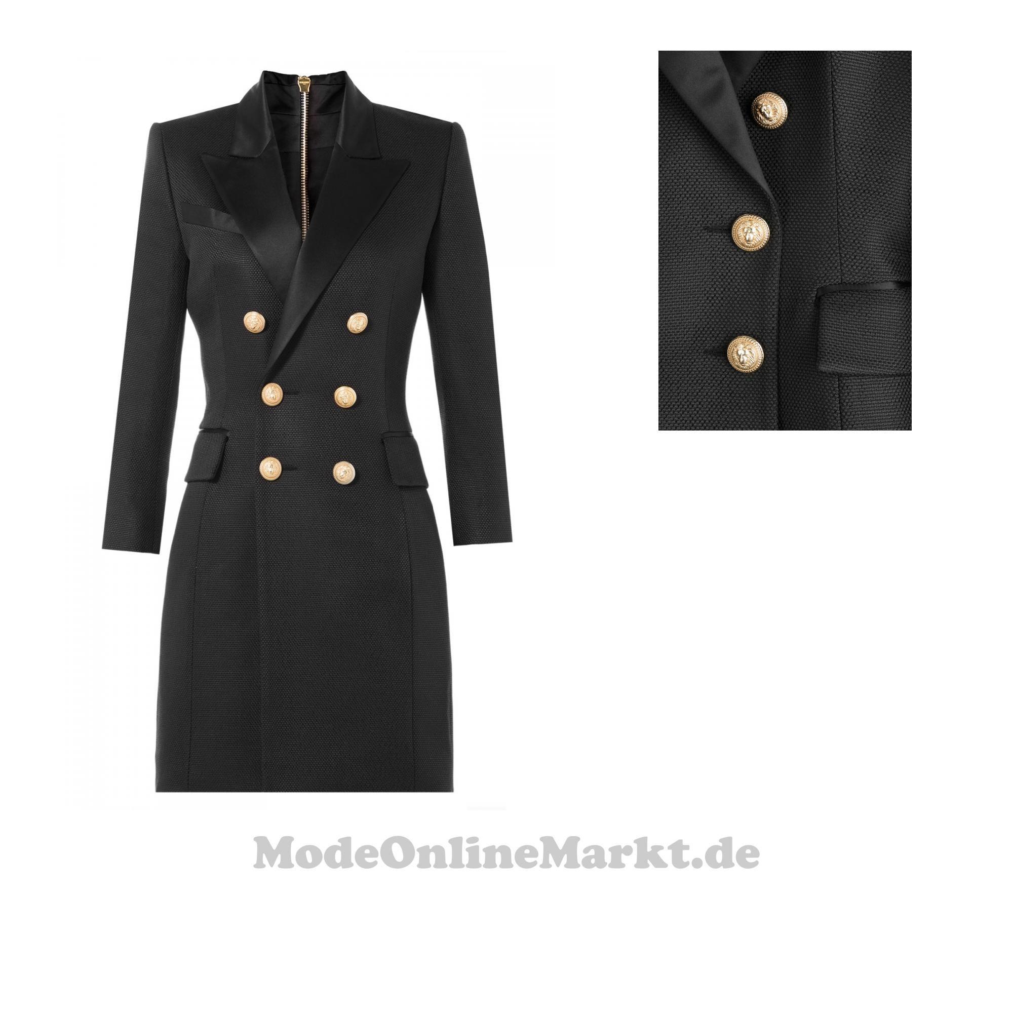 Balmain  Blazer,  Kleid aus  Seidentwill  ,  Schwarz  für  Damen 4274af179f