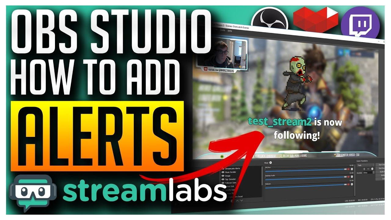 OBS Studio - Adding Alerts for Follower, Subscriber, Donation | Love