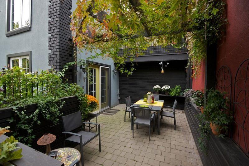 Kleingarten anlegen stilvoller essplatz und terrasse mit for Kleingarten anlegen