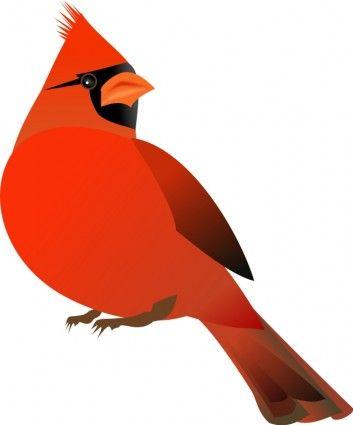 Red Cardinal | sewing | Red bird tattoos, Bird outline, Cardinal birds