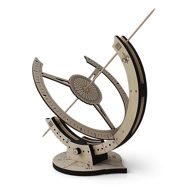 build your own equatorial sundial for use in your garden patio or