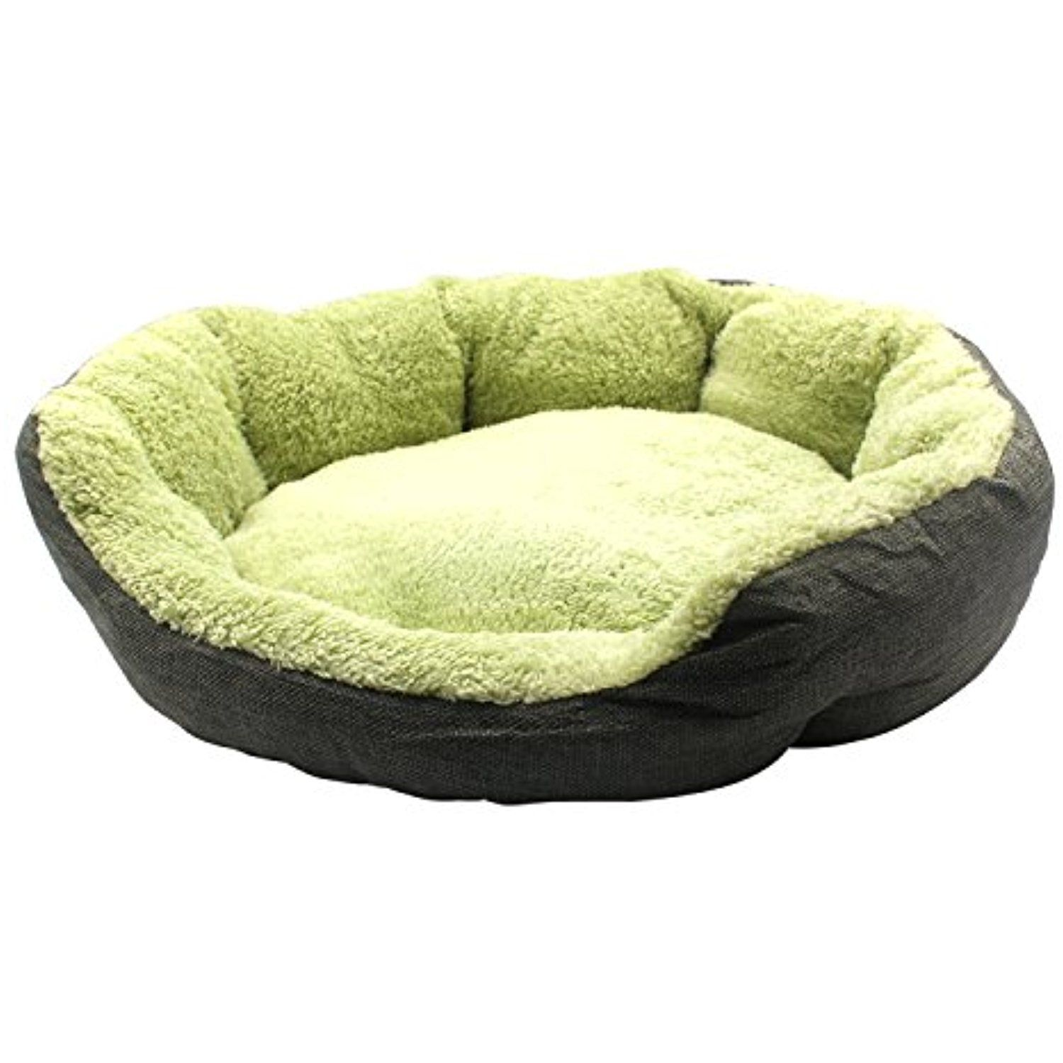 Aiicioo Round Pet Bed Gunny Designed for Dog Cat Bed