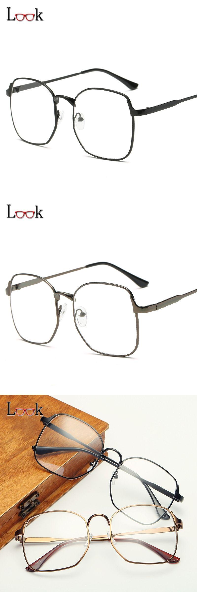 0a7f00a12bb9 New Arrival Glasses Frames For Women Men 2017 Top Quality Gold Metal Big Glasses  Optical Frames