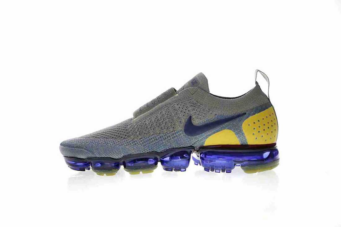 d17380d6bf Nike Air VaporMax 2018 2.0 Flyknit MOC Grey Blue Yellow Orange ...