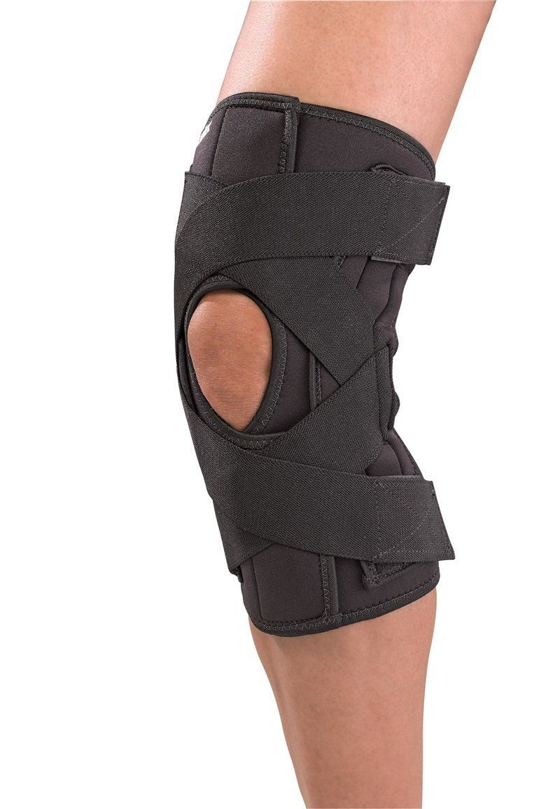 Mueller Wraparound Knee Brace Deluxe Black Lg You Can Get Additional Details At The Image Link This Is An Common Knee Injuries Knee Support Knee Brace