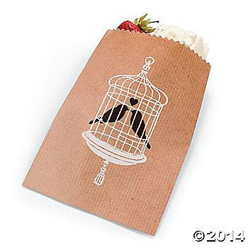 Love Birds Cake Bags