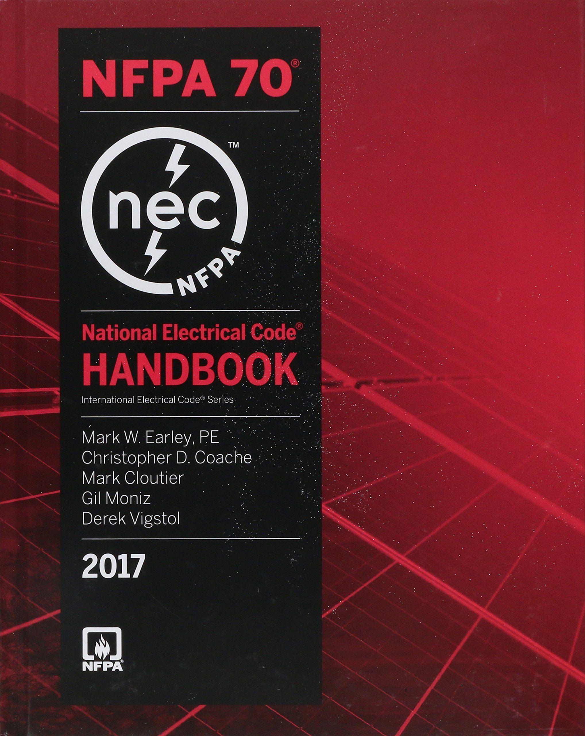 New National Electrical Code 2017 Handbook International Electrical Code Electrical Code Book Electrical Code Free Reading