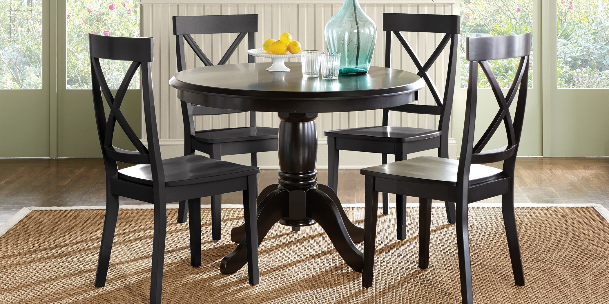 Brynwood Black 9 Pc Round Dining Set with Black Chairs   Dining ...