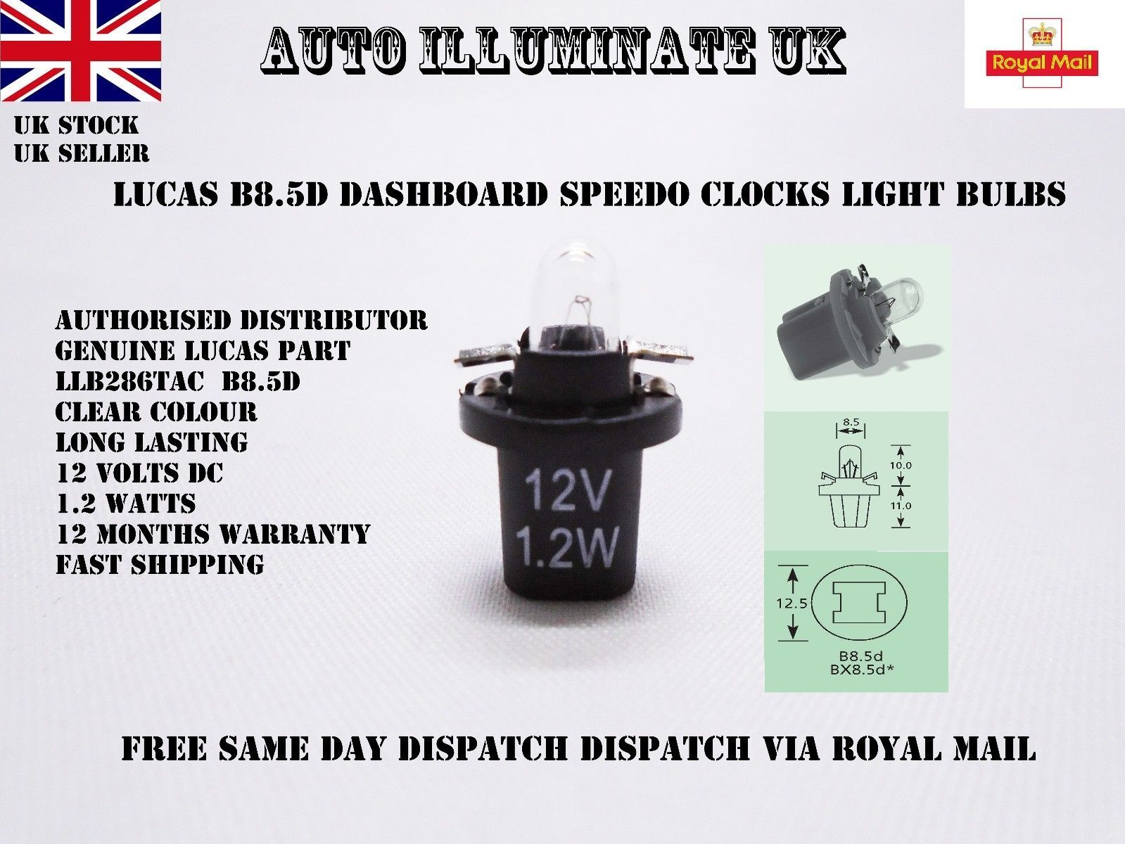 Lucas B8 5d 509t Car Bulb Gauge Instrument Panel Dash Dials Llb286tac 12v 1 2w 5012445768358 Ebay Light Bulb Lamp Bulb Lighting Suppliers