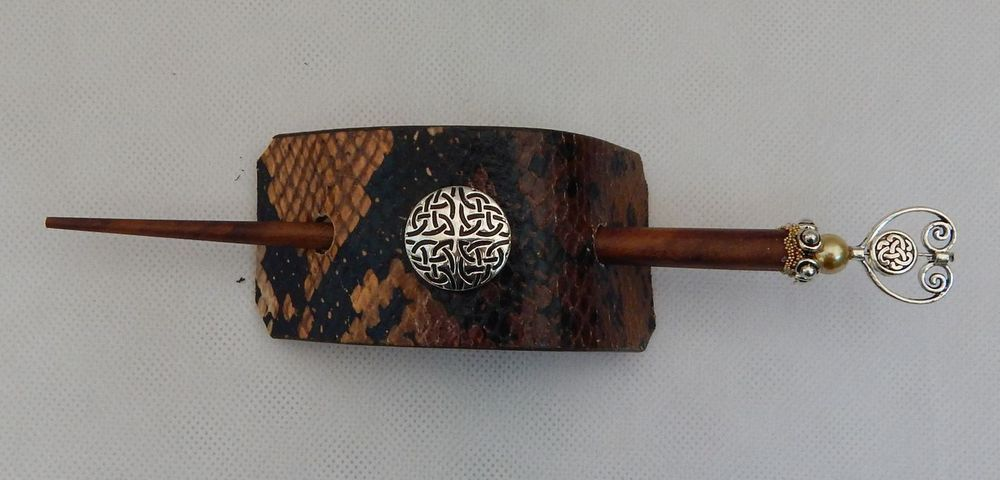 Bonded Leather Celtic Knot Hair Pin Barrette Hair Stick Wood Accessories New  #Handmade http://www.ebay.com/itm/Bonded-Leather-Celtic-Knot-Hair-Pin-Barrette-Hair-Stick-Wood-Accessories-New-/152215294601?ssPageName=STRK:MESE:IT