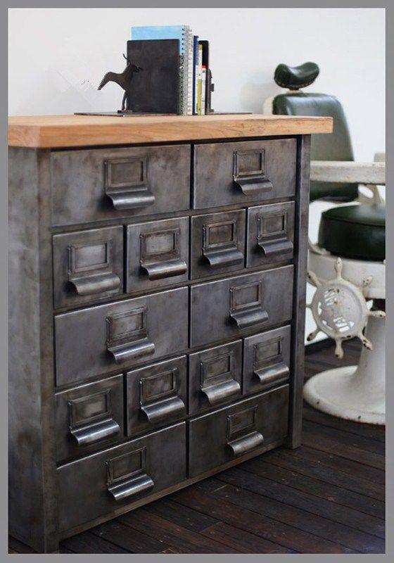 Vintage Industrial Metal Cabinet Industrial Style Furniture