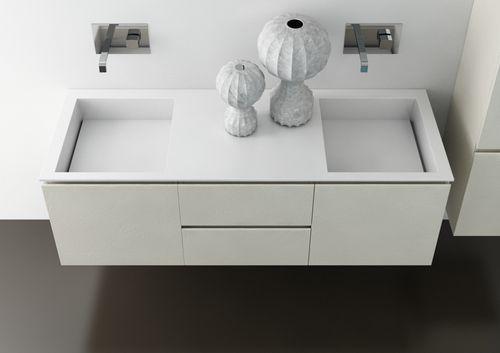Meuble vasque double / contemporain / en verre / suspendu RES-ART 10 ...