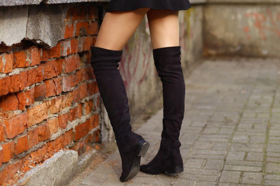 Jeansowa Kurtka Krotka Spodniczka Dlugie Kozaki I Kapelusz Ari Maj Personal Blog By Ariadna Majewska Boots Fashion Model