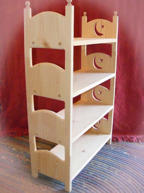 Stackable Doll Quad Bunk Bed 4 Moon And Star Baby Doll