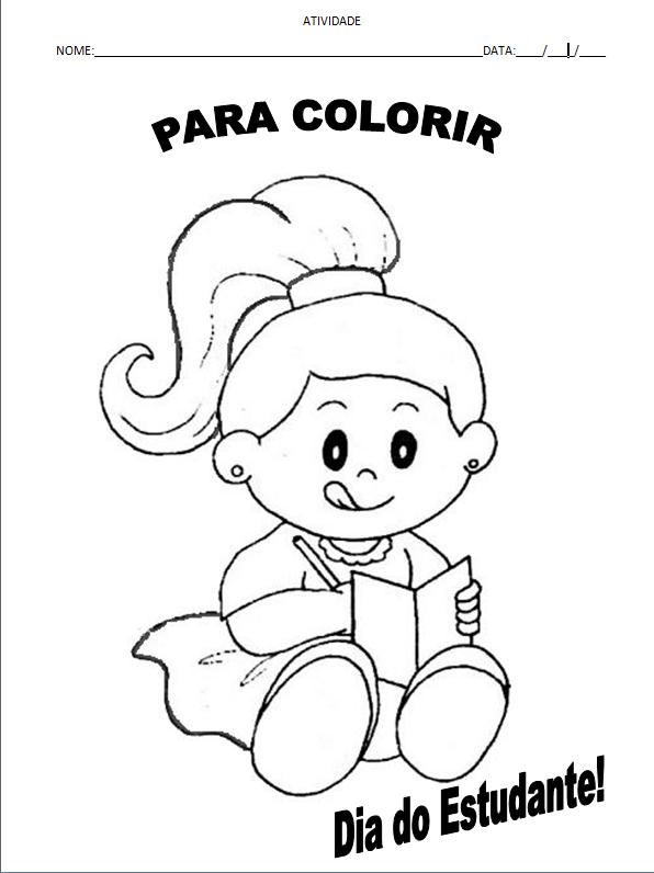 atividade colorir dia do estudante1