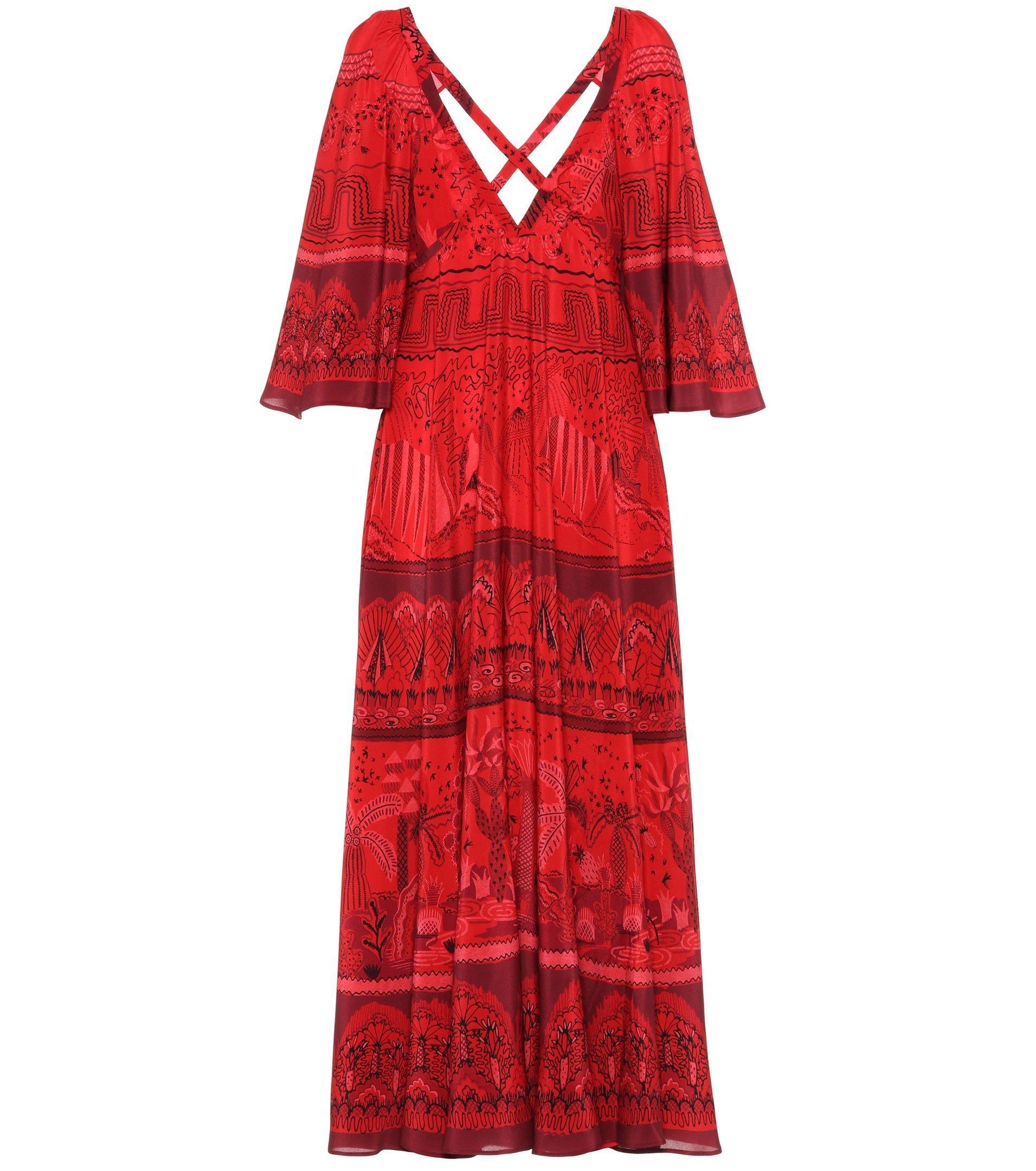 Printed Silk Dress - Valentino   mytheresa