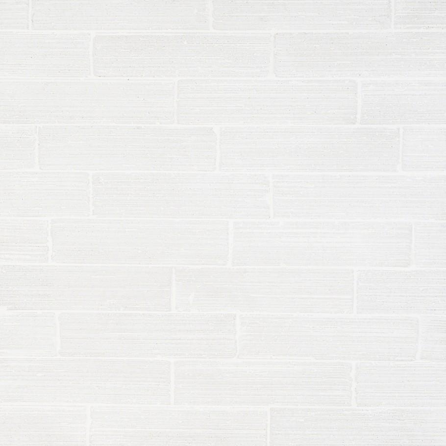 Cadenza Stroke Vintage White Matte 2x9 Clay Tile #showertiles
