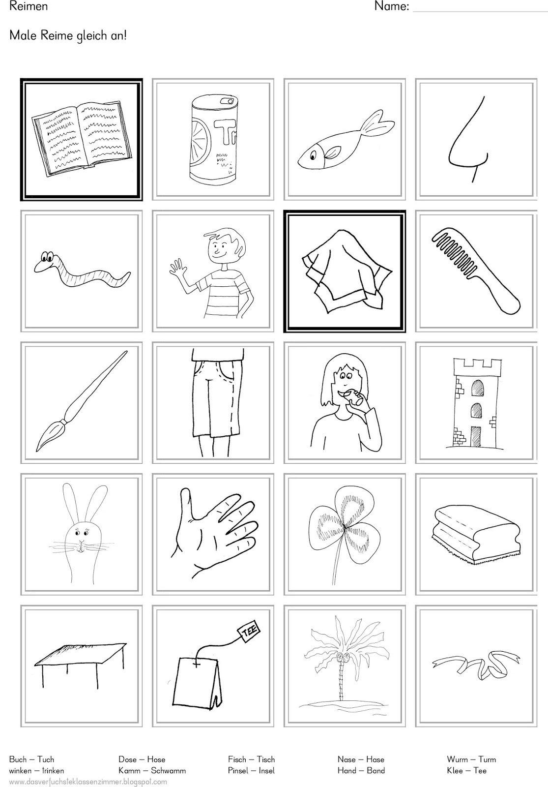 Das verfuchste Klassenzimmer: Reime finden | Rhyming | Pinterest ...