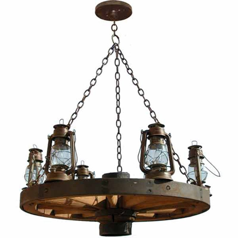 Wagon Wheel Chandelier Old Western America 1800 S
