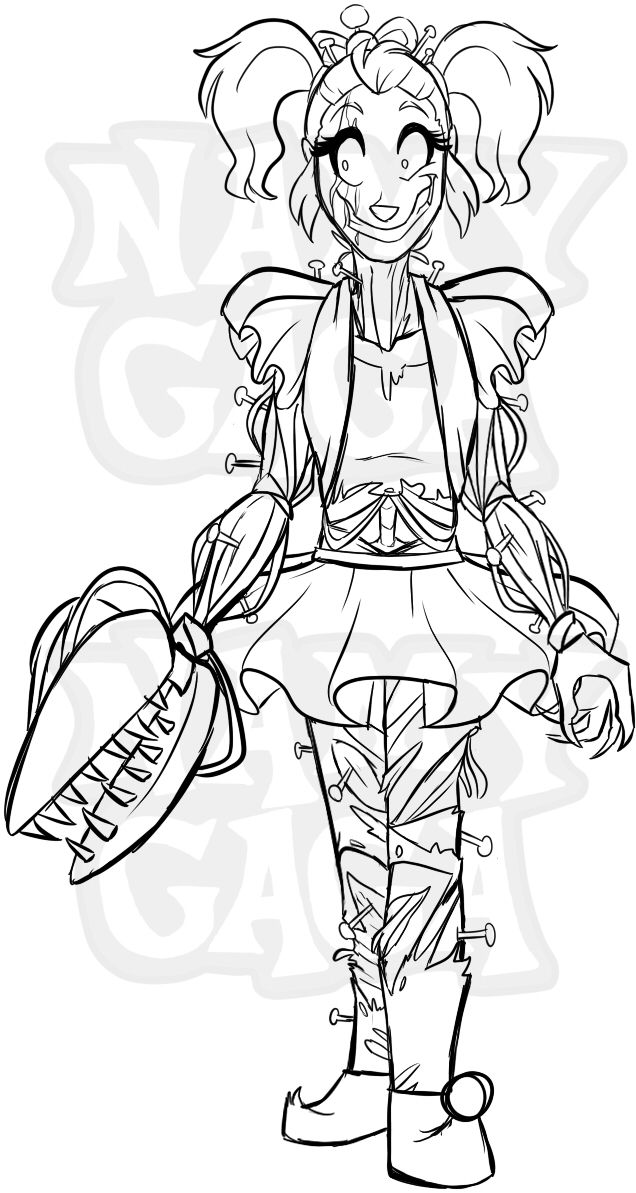 Fnaf Baby Coloring Pages : coloring, pages, FNAFNG_Freakshow, Design, NamyGaga, Baby,, Drawings,, Anime