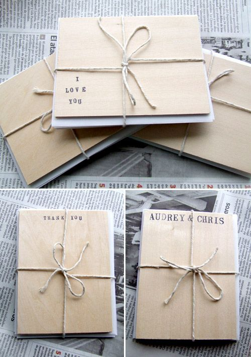 Creative Wedding Invitations Made From Wood InvitationsWedding StationeryWedding Thank You CardsWedding